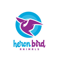 modern heron animal logo vector image