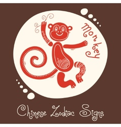 Monkey Chinese Zodiac Sign vector image