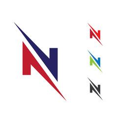 N letter logo business template vector