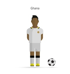 National football player Ghana soccer team uniform vector image