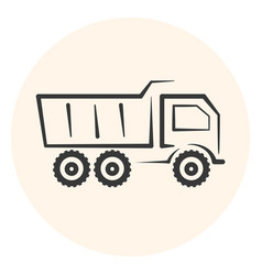 outline dumper icon dump track vector image