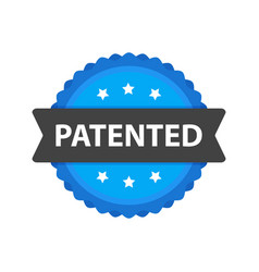 patented stamp label flat cartoon patent badge vector image