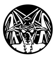 pentagram with baphomet vector image