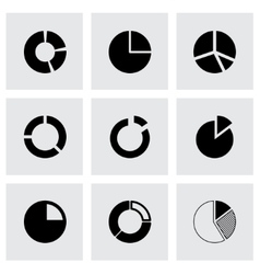 pie chart icon set vector image