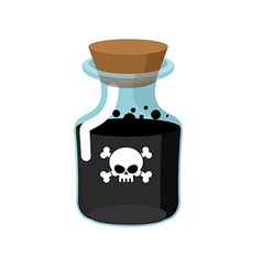 Poison Bottle with a black liquid Glass magic Bank vector image