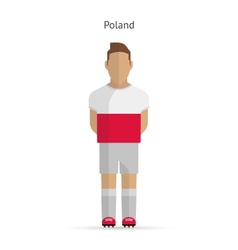 Poland football player Soccer uniform vector