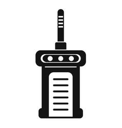 Portable radio icon simple style vector