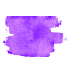 purple watercolor brush stain abstract background vector image