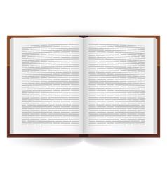 Realistic open book vector image