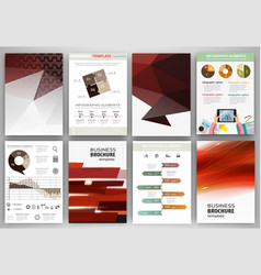 red backgrounds and abstract concept infographics vector image