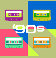 retro audio cassete vector image
