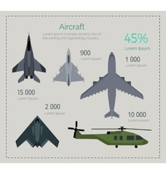 set military aircraft vector image