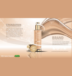 skin care perfume template set vector image