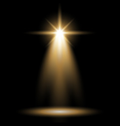 spotlight glow effect light beam golden color vector image