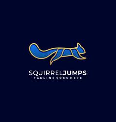 squirrel jump design template vector image