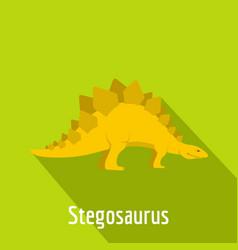 Stegosaurus icon flat style vector