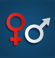 symbols of gender the vector image