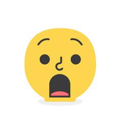 trendy surprised emoji smile eps10 vector image