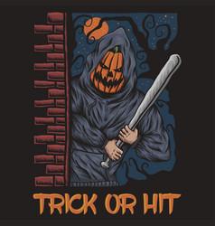 trick or hit halloween vector image