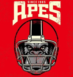 vintage ape football player vector image