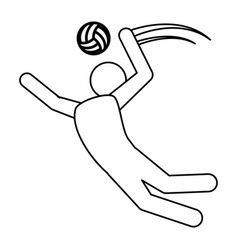 volleyball player pictograph vector image