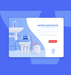 water filter flat composition vector image