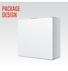 White Box mock vector image