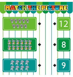 Worksheet for children counting and connecting vector