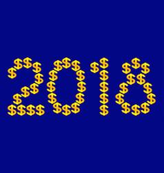 dollar 2018 lettering vector image