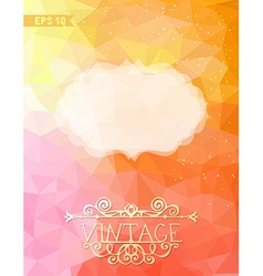 Geometric retro background with place for your vector image vector image