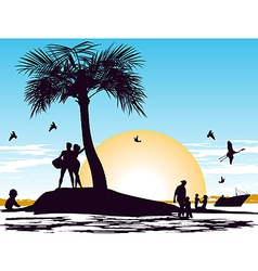 paradise on the island vector image vector image