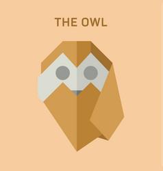 polygon animals origami owl vector image