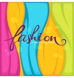 Bright fashion vector