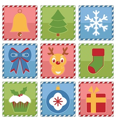 christmas squares vector image