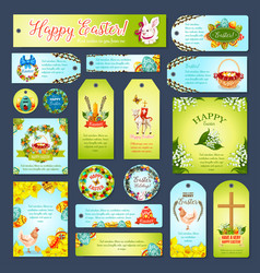 easter greeting cards tags banners set vector image