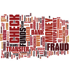 Fraud facts and tips to help you text background vector
