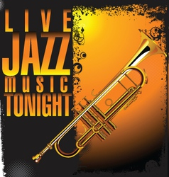 Jazz concert background vector image