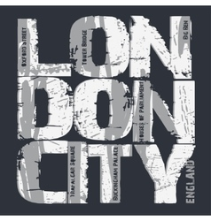 London city Typography design vector image vector image
