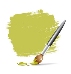 Paint brush green space your text vector image vector image