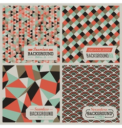 Retro-styled seamless patterns vector