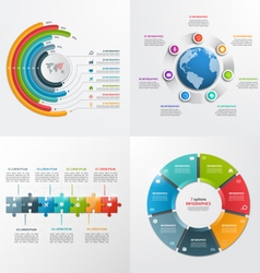 7 steps infographic templates Business concept vector image