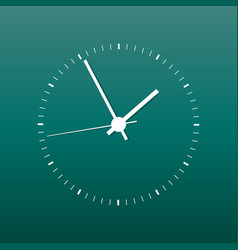 clock icon office clock on green background vector image
