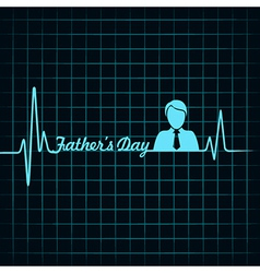 Happy father day creative medical greeting concept vector