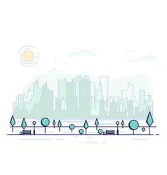 line city park vector image vector image