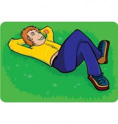 boy relaxing vector image vector image