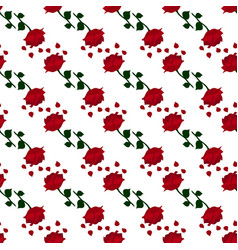 dark red rose pattern vector image