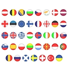 Flags of European countries vector image vector image