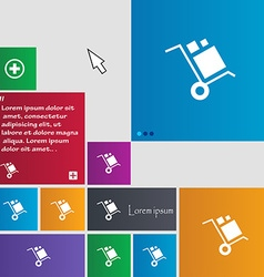 Loader icon sign buttons modern interface website vector