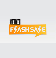 1111 shopping day flash sale banner vector image