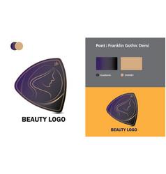 Abstract beauty logo template design vector